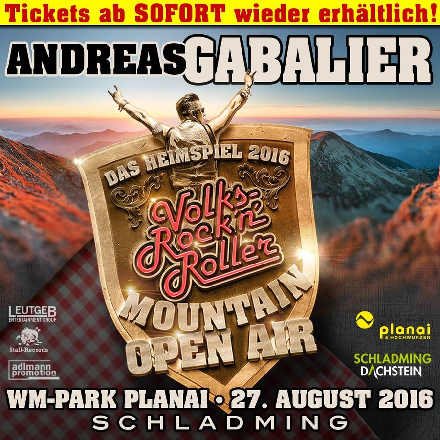 Andreas Gabalier Mountain Open Air 27082016 Planai Hochwurzen