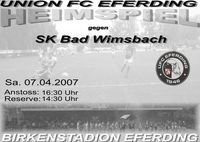 UFC Eferding - SK Bad Wimsbach@Birkenstadion
