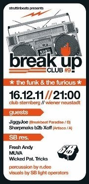 Break Up Club 9 - The Funk and the Furious