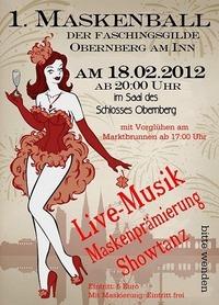 Maskenball und Faschingsdisco@Schloss Obernberg am Inn