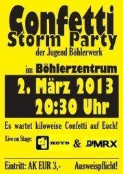Confetti Storm Party@Böhlerzentrum