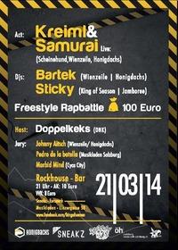 King of Season Freestylebattle + Live-act: Kreiml & Samurai (honigdachs/ Schweinehund/ Wienzeile)