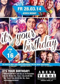 It´s your Birthday - März und April