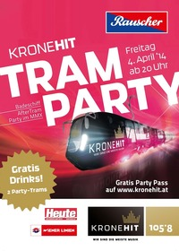 Die Kronehit Tram Party in Wien