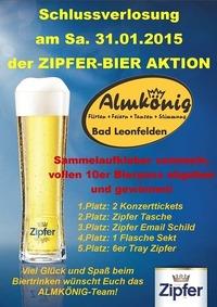 Schlussverlosung - Zipfer-Bier-Aktion