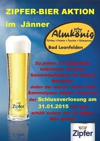 Zipfer-Bier-Aktion im Jänner