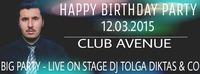 Tolgas Happy Birthday Party Club Avenue