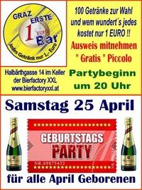 Geburtstags Party April
