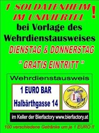 1 Soldatenheim im Univiertel@1 EURO BAR