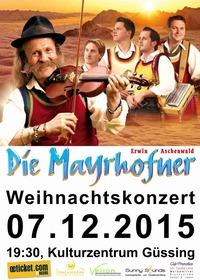Erwin Aschenwald - Die Mayrhofner Weihnachtskonzert@Kulturzentrum Güssing