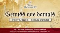 Genuss wie damals@Wiener Rathauskeller