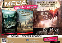 MEGA Double Feature: Maze Runner 1 und 2@Hollywood Megaplex