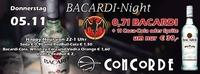 Bacardi Night@Discothek Concorde
