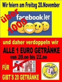 1000er FACEBOOK PARTY@1 EURO BAR