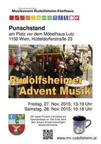 Punschstand mit Rudolfsheimer Adventmusik@ Punschstand vor dem Möbelhaus Lutz