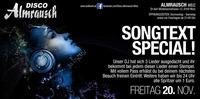 Songtext Special@Almrausch Weiz