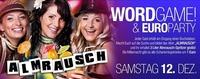 WORD GAME & Euro Party!@Almrausch Weiz