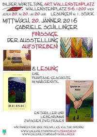Gabriele Schillinger Finissage und Lesung bei bilder.worte.töne@Osteria Allora