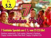 7 Sünden Party mit DJ MAX@Maurer´s