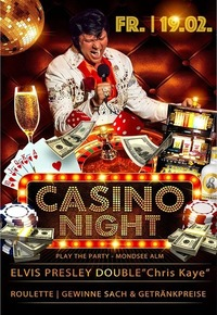 Casino Night mit Elvis Presley Double@Mondsee Alm