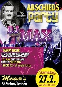 DJ MAX ABSCHIEDSPARTY@Maurer´s