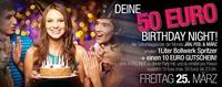 WOW – Deine 50€ Birthday Night@Bollwerk Klagenfurt