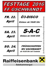 Feuerwehrfest Gschwandt mit SAC@Union-Reithalle