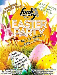 Saturday ☼ Funky Easter - we love bunny's ☼ March 26th, 2016@Funky Monkey