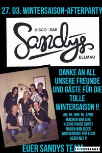 Winterseason Afterparty @ Sandys@Sandys