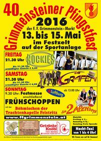 40. Grimmensteiner Pfingstfest, der Freitag@Sportanlage Grimmenstein