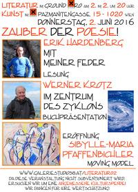 """""""Zauber der Poesie!"""" – Gereimtes und Ungereimtes von Erik Hardenberg und Werner Krotz bei Literatur im Ground Xiro!@Xi Cafe & Bar"""