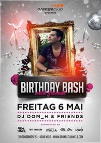 DJ DOM_H Birthday BASH@Orange Club