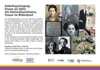 Gedenkspaziergang: Frauen als Opfer des Nationalsozialismus, Frauen im Widerstand@Stolperstein für Klementine Narodoslavsky