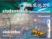 Studentspub - INTERNATIONAL FAIR@KV Röda
