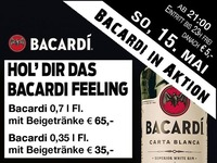 Party vor dem Feiertag - Bacardi in Aktion@Partymaus Wörgl