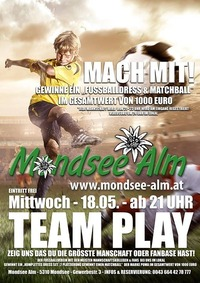 TEAM PLAY - FUSSBALL AKTION@Mondsee Alm