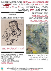 Karl Kraus kontrovers & Beate Krempe - Collagen@Osteria Allora