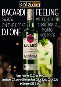 BACARDI FEELING mit DJ ONE@Salzbar