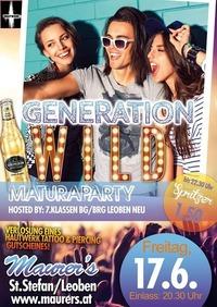 Generation WILD - Maturaparty 7.Klassen Bg/Brg Leoben neu@Maurer´s