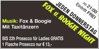Jeden Donnerstag - Fox und Boogie Night@Mausefalle