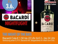 Bacardi Nightflight - Welcome DJ Max@Maurer´s