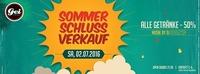 Sommerschlussverkauf: Alle Getränke -50% im GEI Musikclub, Timelkam@GEI Musikclub
