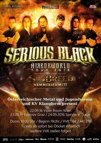Serious Black, Sinbreed und Hammerschmitt live im Viper Room Wien@Viper Room