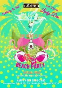 Bacardi Beach Party mit DJane Lady Dee@Salzbar