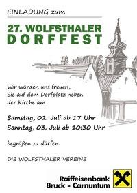 27. Wolfsthaler Dorffest@Dorfplatz Wolfsthal