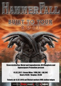 HAMMERFALL - Built To Tour 2017@Arena Wien