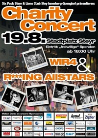 Wir4 & R***ing Allstars - Charity Concert@Stadtplatz Steyr
