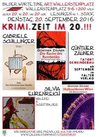 KRIMI.ZEIT mit Gabriele Schillinger und Günther Zäuner am Wallensteinplatz!@Osteria Allora