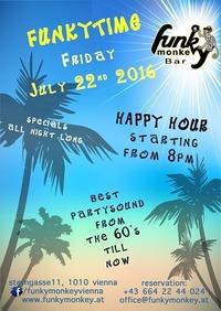 Funkytime !!! - Friday July 22nd 2016@Funky Monkey