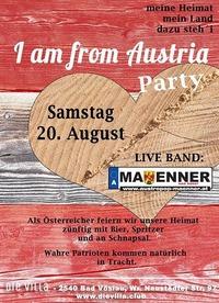 Maenner live mit Austropop vom Feinsten - I am from Austria Party@Die Villa - musicclub